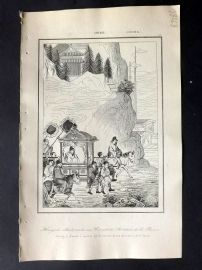 L'Univers C1850 Antique Print. Hoang-Ti travelling, China 47